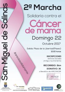 Marcha solidaria contra el cáncer de mama San Miguel de Salinas