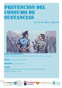 cartel prevención del consumo de sustancias