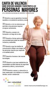 Infografia carta valenciana sobre derechos humanos personas mayores