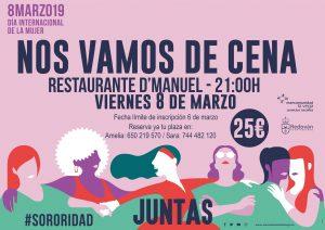 Cartel cena de mujeres Redován