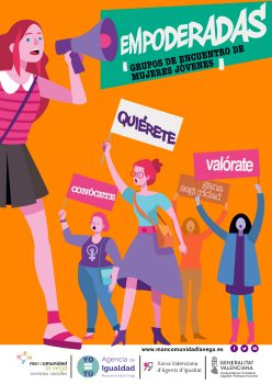 Cartel mujeres empoderadas