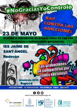 Cartel taller de Rap contra las adicciones