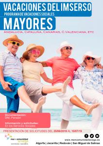 VACACIONES SOCIALES IMSERSO 2019