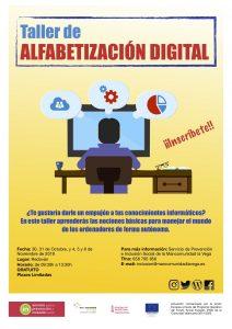 Cartel alfabetización digital Redován