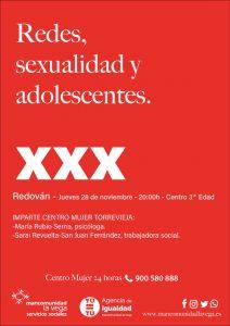 Cartel sexualidad y adolescentes