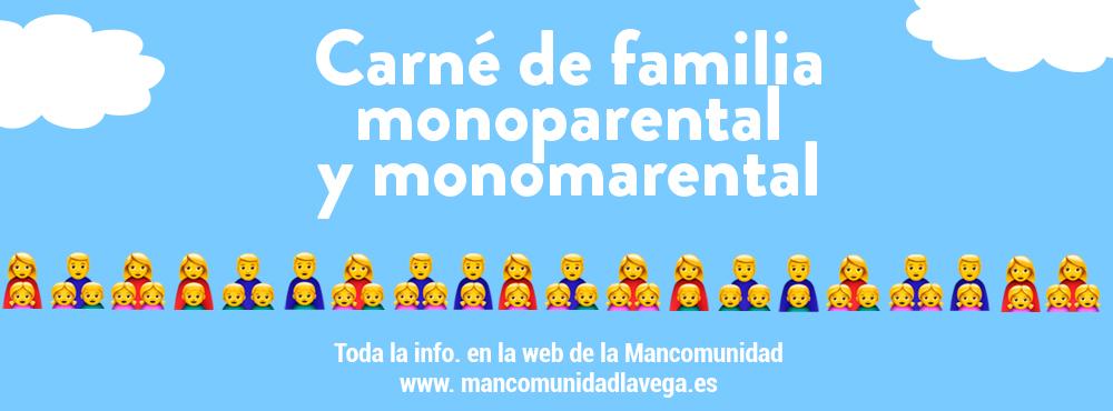 Carné familia monoparental y monomarental