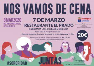 Cena mujeres San Miguel de Salinas 2020