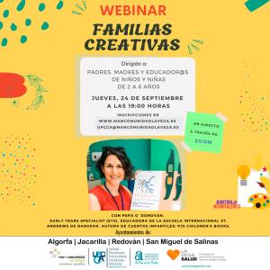 Webinar familias creativas