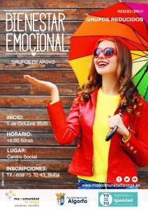 Cartel bienestar emocional Algorfa