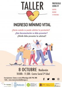 CARTEL INGRESO MINIMO VITAL REDOVAN
