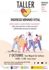 CARTEL INGRESO MINIMO VITAL SAN MIGUEL