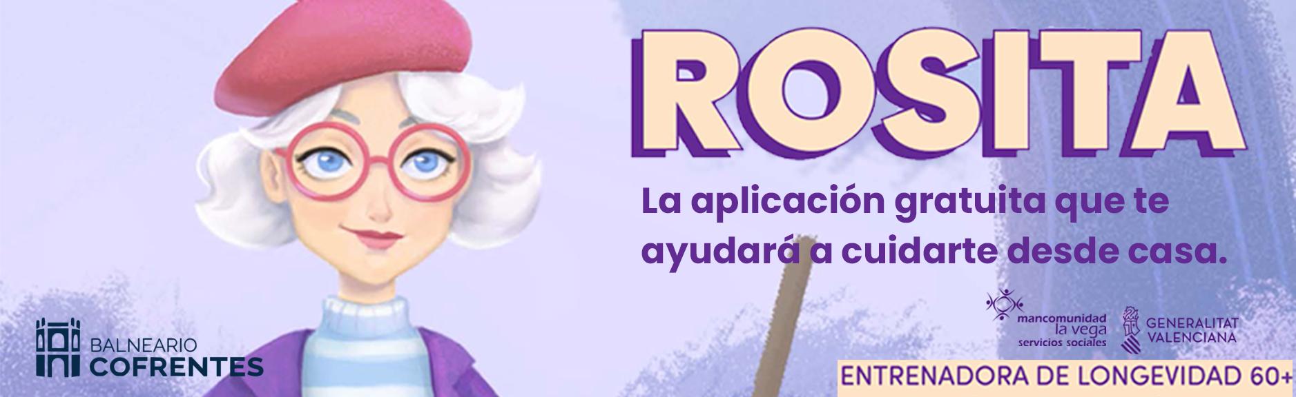 Banner Rosita. La aplicación gratuita que te ayudará a cuidarte desde casa