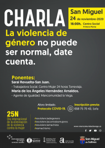 San Miguel. Jornada Violencia de Género.