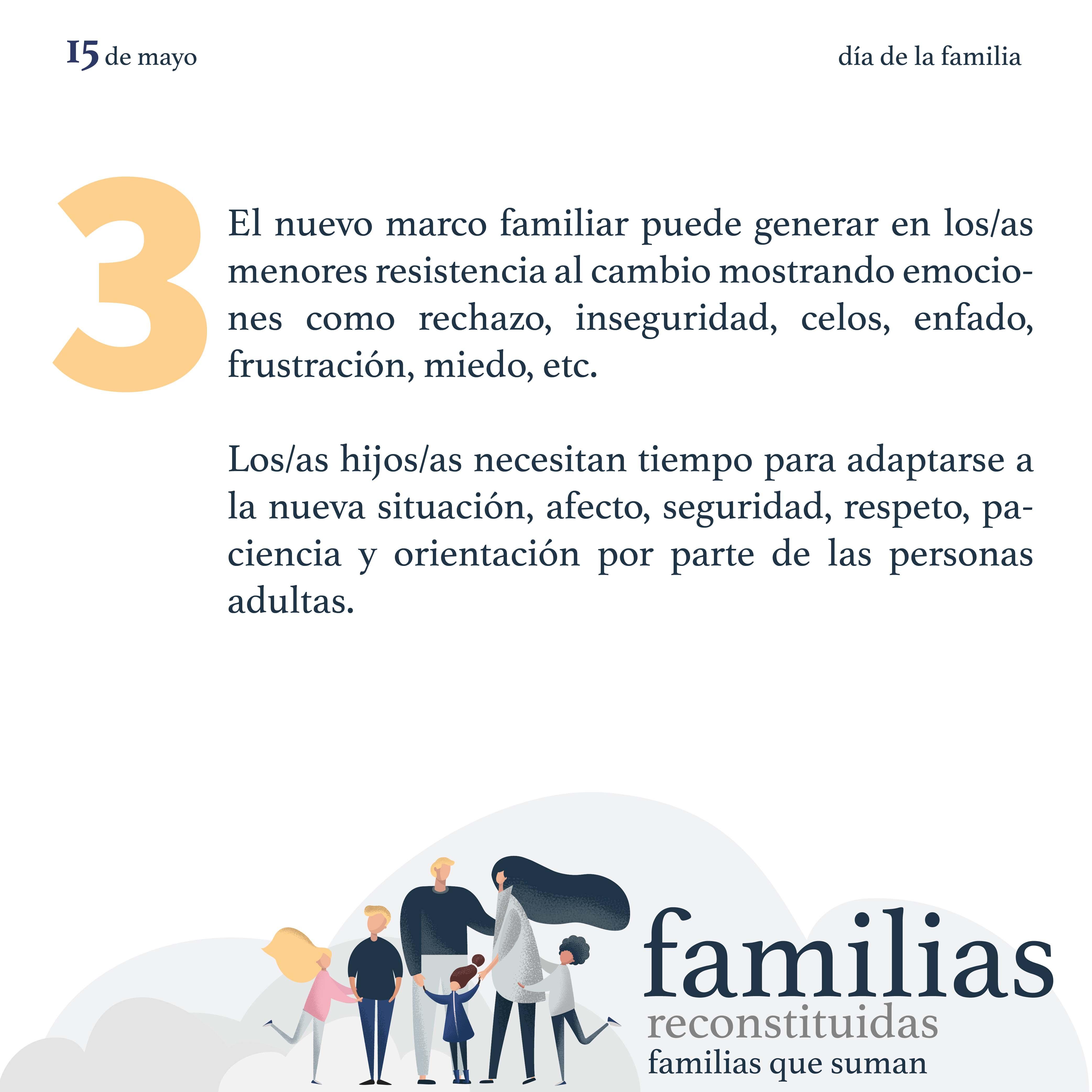 Familias reconstituidas, familias que suman
