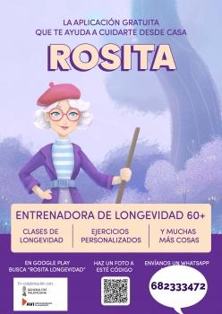 Rosita. La app gratuita que te ayudará a cuidarte desde casa.