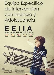 Cartel servicio específico de intervención con infancia y adolescencia