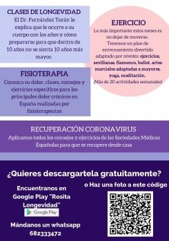 Rosita la app gratuita que te ayudará a cuidarte desde casa.
